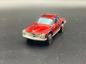 1969 Hot Wheels Redline Mercedes Benz 280SL Red Original Great Shape