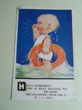 "Vintage Mabel Lucie Attwell Postcard ""Billy Buttons Wif his Band"" 1936    §A2144"