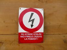 Porzellan Emaille Schild, emaillierte Plaque Metallplatte, Werbung 01
