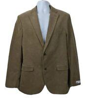 Nordstrom Corduroy Blazer Mens Jacket Size 42 Long Beige Tan