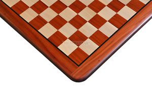 """Wooden Chess Board Blood Red Bud Rose Padauk Solid Wood 18"""" - 45 mm"""