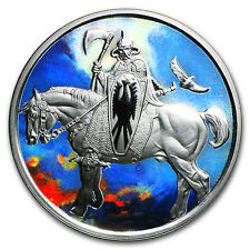 1 oz Silver Colorized Round - Frank Frazetta (Death Dealer) - SKU #104528
