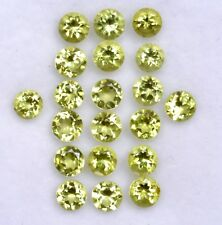 4.81 Cts Natural Peridot Round Cut 3.50 mm Lot 25 Pcs Lustrous Loose Gemstones