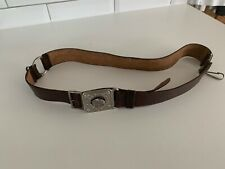 Vintage Girl Guide Belt Leather With Buckle Brown