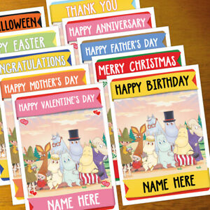MOOMINS Personalised Card ANY OCCASION - xmas, romantic, personalized moomin