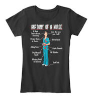 Anatomy Of A Nurse Best Gift - Mind That's Always Women's Premium Tee T-Shirt