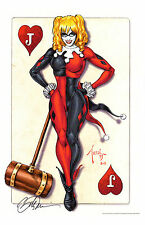 HARLEY QUINN ART PRINT SIGNED BY ARTIST BILLY TUCCI