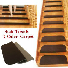 1-13Pcs Set Non-slip Carpet Stair Tread Mats Staircase Step Rug Protection