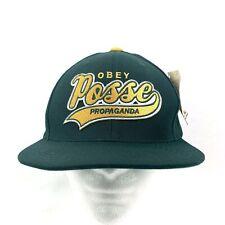 OBEY Posse Propaganda Green & Yellow Men's On Deck Snapback Truckers Hat Cap