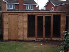 16x8 MODERN SUMMER HOUSE AND STORAGE SHED  (WOODEN SHED) (GARDEN SHED)