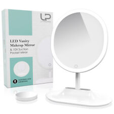Upgraded Anti-Glare & Dimmable LEDs Makeup Mirror & 10x Spot Mirror for Details