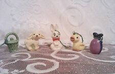 Goebel Vintage Easter Miniature Ornaments Bunny, Lamb, Chick, Basket, Egg Vguc
