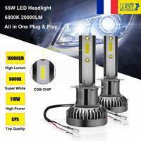 110W 20000LM H1 COB LED Ampoule Voiture Feux Lampe Kit Phare Blanc 6000K 12V