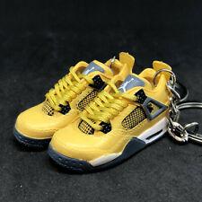 Pair Air Jordan IV 4 Retro Lightning Yellow Sneaker 3D Keychain Shoes Figure 1:6