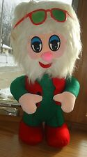 "Vintage Hippie Stuffed Santa Claus w sunglasses 17"" EXC condition Christmas"