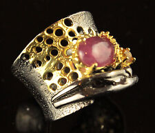 Unique Jewelry Ring Ruby 925 Sterling Silver Ring Freesize