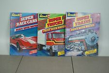 REVELL CAR/TRAIN/TRUCK Vintage Book water paint Model Coloring Porsche/Ferrari