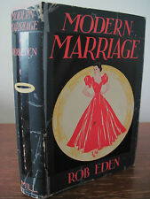 1st Edition MODERN MARRIAGE Rob Eden FIRST PRINTING Fiction ROMANCE Novel OOP