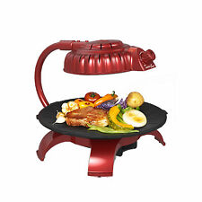 ZAIGLE Simple Red ZG-B373R Electric Infrared Health Grill Indoor Roaster 220V