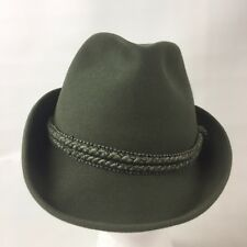 1239535ac4535 Tonak Hat Dark Green Felt Fedora Trillby Men s Size 58 Made in Czech  Republic
