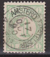 NVPH Netherlands Nederland nr 31 TOP CANCEL AMSTERD:AMSTELSTR Cijfer 1876