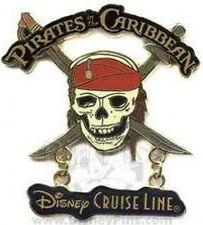 Disney Pin: Disney Cruise Line Pirates in the Caribbean - Pirate Skull