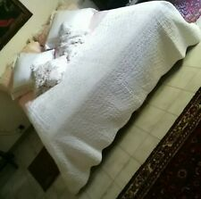 Boutis provenzale matrimoniale color bianco 100% cotone