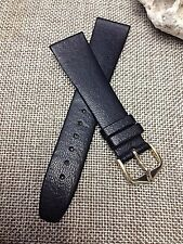 20mm BLACK VINTAGE STRAP Genuine HIRSCH ITALOCALF LEATHER Men's WATCH BAND  sale