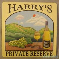 Vintage Beverage Bar Coaster HARRY'S BAR Harry's Private Reserve