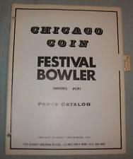 ORIGINAL CHICAGO COIN FESTIVAL BOWLER PARTS CATALOG