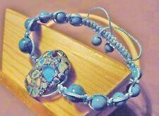 Bracelet Shambala * Turquoise & howlite Bleu * Shamballa * Fabrication maison *