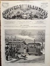 L'UNIVERS ILLUSTRE 1876 N 1087 LES NOUVEAUX TRAMWAYS A VAPEUR DE PARIS