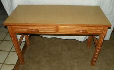 Ranch Oak 2 Drawer Desk / Sofa Table (Dr43)