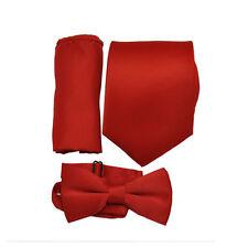 Men's 3 pcs red tie set