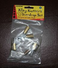 """Kemper Klay cutters, plunge style TEARDROP cutter set from 3/8"""" to 3/4"""""""