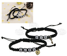 Fashion Couples His & Hers Charms Lock and Key Bracelet for Girlfriend BOYFRIEND