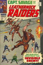 CAPT. SAVAGE AND HIS LEATHERNECK RAIDERS #5 F, Marvel Comics 1968 Stock Image