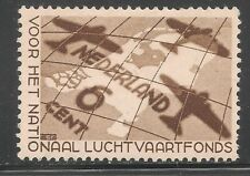 Netherlands #B81 VF MINT - 1935 6c (+4c) Netherlands Map, DC-3 Planes Shadows