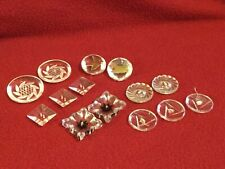 New listing Vintage Lucite~Clear Plastic Buttons (14) 1.5� to .75� 6 sets