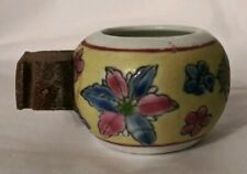 Antique Chinese Porcelain Floral Bird Feeder Water Bowl Multi-Color FREE SHIP
