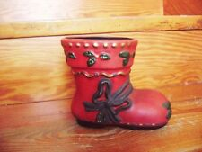 @Vintage@ Santa Boot Christmas Stocking Ceramic - Pflanzenübertopf or Deco