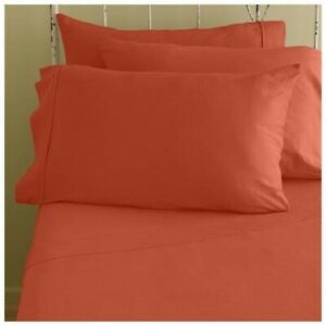 1200TC Egyptian Cotton Orange Solid Bed Skirt All US Size Select Drop Length