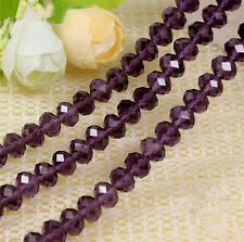 100pcs Purple exquisite Glass Crystal 3*4mm #5040 loose beads*