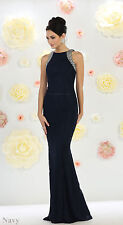 SPECIAL OCCASION PROM DANCE EVENING CLASSY GOWN FORMAL FITTED DEMURE PARTY DRESS