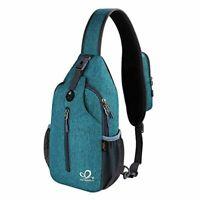 Waterfly Crossbody Sling Backpack Sling Bag Travel Hiking Chest Bag Daypack TEAL