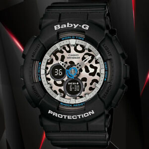 Casio BABY-G BA-120LP-1A Black Analog and Digital World Time Watch 100M WR DEAD