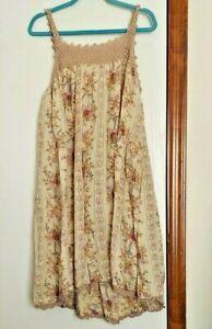 MAGNOLIA PEARL COTTON CROCHERED YOKE SLEEVELESS DRESS