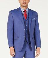Sean John Classic-Fit Blue Textured Suit Jacket Mens 48R 48 $360