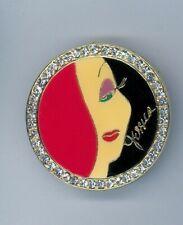 1989 Downtown Disney Pleasure Island Jessica Rabbit Brooch Jeweled Pin Htf