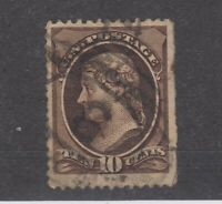USA 1870 10c Jefferson Scott #150 SG152a Fine Used JK1164